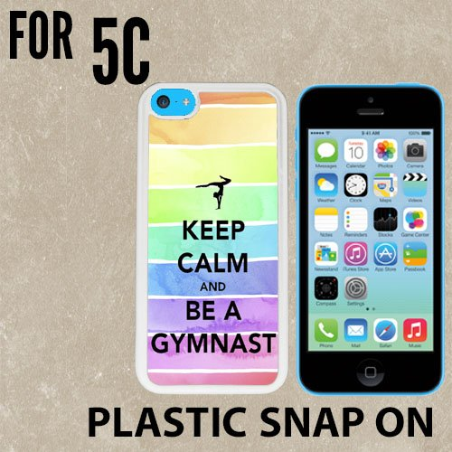Hipster Keep Calm Be A Gymnastics Gymnast Love Custom made Case/Cover/skin FOR iPhone 5C -White- Plastic Snap On Case ( Ship From CA)