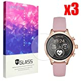 Lamshaw Michael Kors Runway Screen Protector, 9H Tempered Glass Screen Protector Michael Kors Access Runway Smartwatch (3 Pack)
