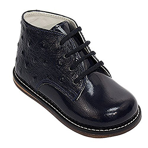 Josmo 8190PO Baby Walker Leather Dress Boots, Navy Pat Ostrich - 8