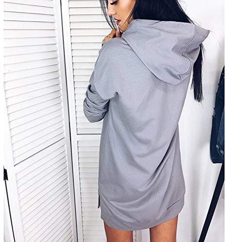 Manches Sweat Hooded Dames Tops Longues Hooded Capuche Femmes Sweatshirt Beikoard Blouse Gris à Hoody à Automne qXpEPT