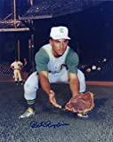 Bert Campaneris Kansas City A's W/ Glove Signed Autographed 8x10 Photo W/coa - Autographed MLB Photos