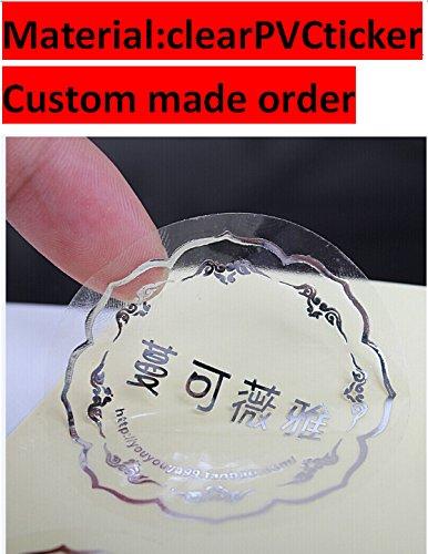 round shape customized order clear adhesive sticker logo label sticker custom made order (1000pcs)