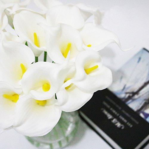 Lilies Pink Stem Calla Long (Wingbind Artificial Calla Lily Flowers,Vivid Artificial Flowers Long Stem for Flower Arrangement Home Office Wedding Decoration 1pcs)