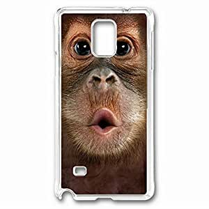 iCustomonline Big Face Baby Orangutan Protective Back PC Crystal Clear Case for Samsung Galaxy Note 4