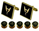 Secretary Gold Cufflinks Masonic 5 Shirt Dress Studs Box Set