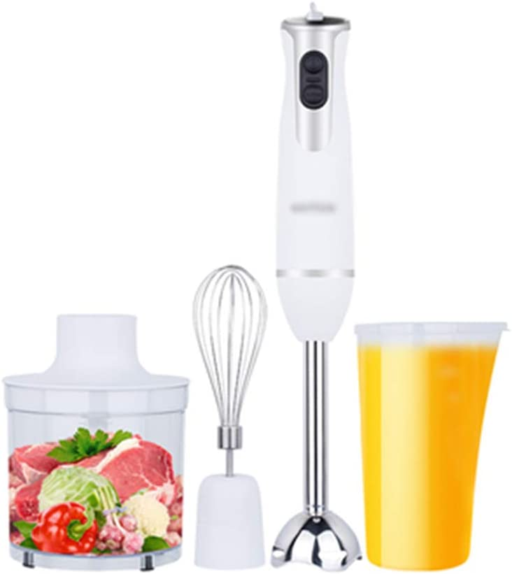 Immersion Hand Blender, 4-in-1 7-Speed Stick Blender with 800Ml Food Grinder Food Chopper/Egg Beater/Beaker for Baby Food, Sauces, Soup and Juices