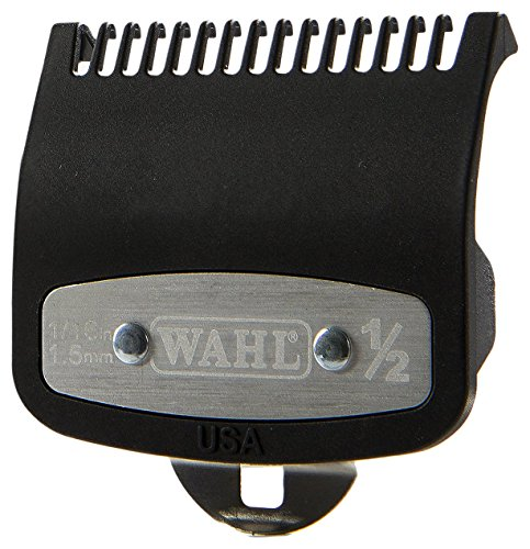 Wahl Professional #1/2 Premium 1/16 Cutting Guide with Metal Clip #3354-1000 - Great for Barbers and Stylists - Ensures Smoother, Safer Cutting Experience - Fits All Wahl Vibrator Clippers