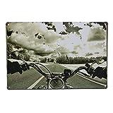 Road Motorcycle Tin Sign Vintage Metal Plaque Bar Pub Wall Decor