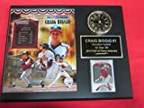 Hall of Famer Craig Biggio Collectors Clock Plaque w/8x10 Photo and Card