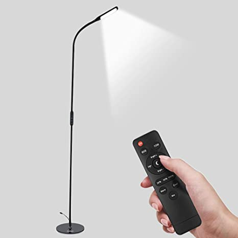 Elelight Led Floor Lamp For Reading Modern Dimmable Standing Pole