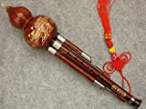 Professional Engraved Rosewood Hulusi, Chinese Hulusi (G Key)