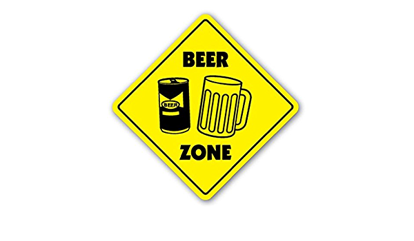 Details about  /Beer Crossing Decal Zone Xing mug glass neon tap keg gag funny brew drinker