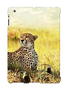 Design For Ipad 2/3/4 Premium Tpu Case Cover Cheetah Savanna Africa Protective Case