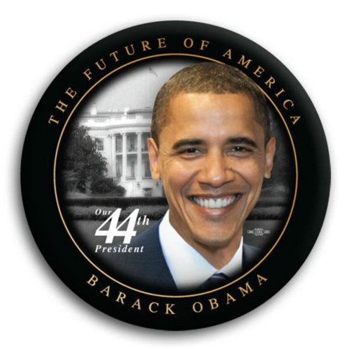 (buy one get one free - Future of America Obama Photo Button - 3