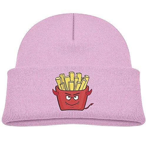 Devil Clipart (Tongbu Devil Worship Clipart Kids Winter Warm Knitted Hat Fashion Wool Caps Beanie Children Girls Boys Knit Cap Pink)