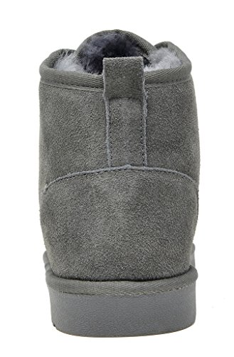 DREAM PAIRS Mens Sheepskin Fur Moccasins Slippers Wolly-grey tsWK7nz