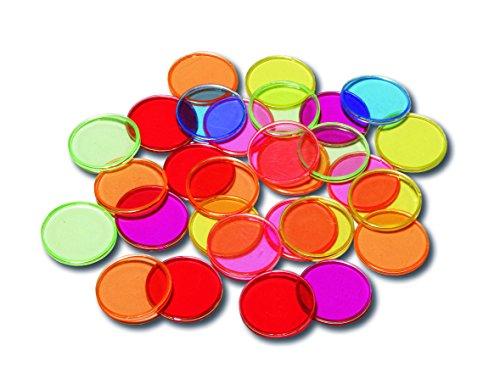 Learning Advantage 7253 Steel-Ringed, Transparent Plastic Counters, Grade: kindergarten