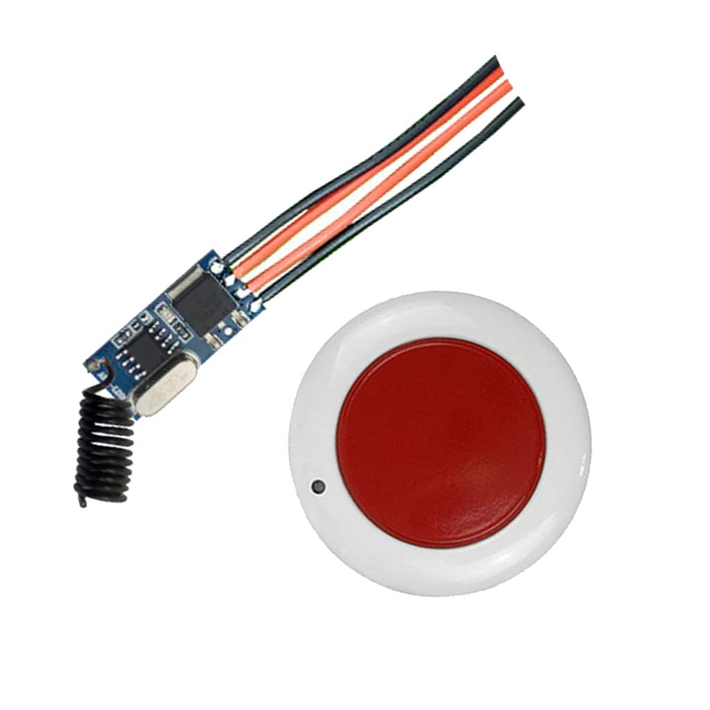 B Blesiya 2 Pieces DC12V-36V Small Panel Power Supply Lamps Round Remote Control Switch Set Black and Red by B Blesiya (Image #5)