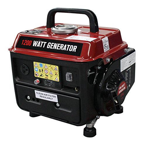 - Goplus 1200 Watt Gasoline Portable Generator Gas Powered 2 Stroke 63cc Single Cylinder W/Air Cooling System EPA Approved