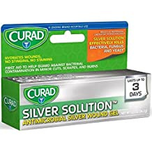 Curad Silver Solution Antimicrobial Gel 0.50 oz ( Pack of 4)