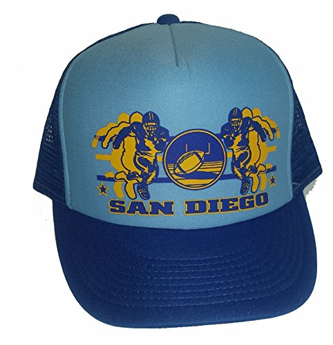 San Diego Football Mesh Trucker Hat Cap Powder Blue Snapback