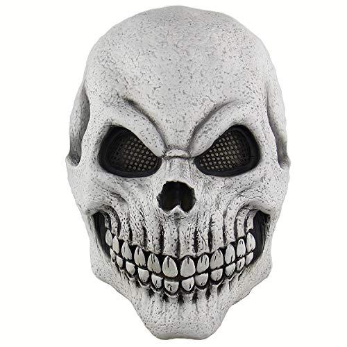 Halloween Cosplay Mask Horrific Mask Creepy Terrifying Knight Skeleton Mask -
