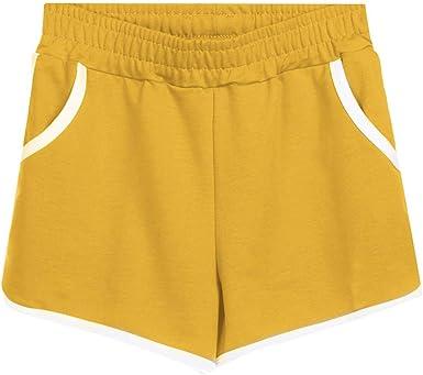 beautyjourney Shorts Deportivos de Mujer en algodón Pantalones ...
