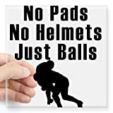 CafePress Just Balls Rugby Sticker Square Bumper Sticker Car Decal, 3'x3' (Small) or 5'x5' (Large)