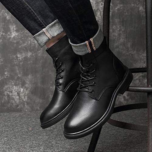 Martin Boots Hombre New Herramientas Otoño High Black Leather Para Chelsea Plus Velvet color Botas Exteriores 50 Tamaño Black top invierno Gfphfm Botines qp7PEx