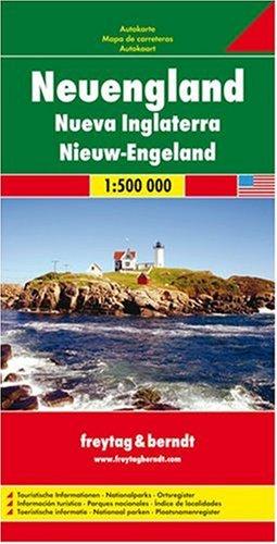 Freytag Berndt Autokarten : Neuengland 1 : 500 000 Landkarte – Folded Map, 2. Januar 2008 Freytag-Berndt und Artaria KG 3707910679 Nordamerika US Northeast