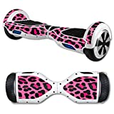 MightySkins Protective Vinyl Skin Decal for Hover Board Self Balancing Scooter mini 2 wheel x1 razor wrap cover sticker Pink Leopard