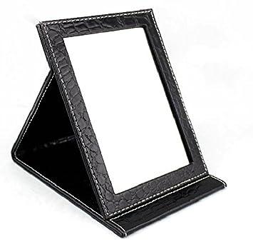 d686c5ee7be0 [COTARON] ミラー 携帯 鏡 クロコ柄 折りたたみ ブラック 選べる 5サイズ 大 中 小