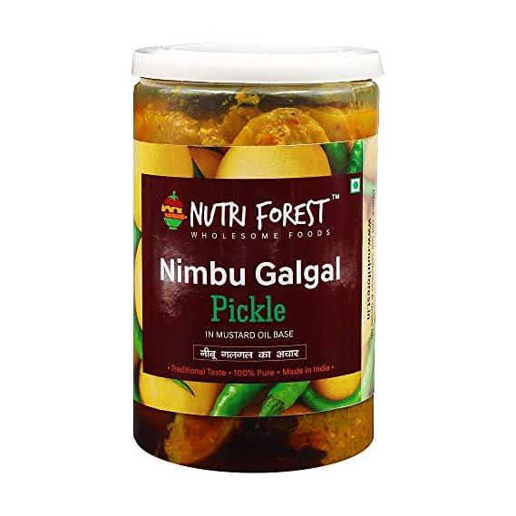 Nutri Forest Galgal Pickle Nimbu 400gm Galgal Ka Achar with Mustard Oil