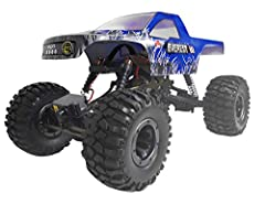 Everest-10 1/10 scale rock crawler (Blue). get ready for the rock crunching, boulder stomping, stone slamming EVEREST-10, 1/10th scale rock crawler! Challenge the laws of Gravity with the ready-to-run EVEREST-10 rock crawler. Complete with fr...