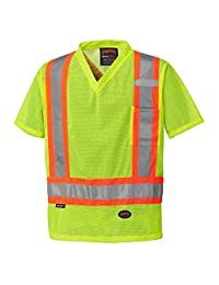 Pioneer V1050360-5XL High Visibility Safety T Shirt-Traffic, Green, 5X-Large