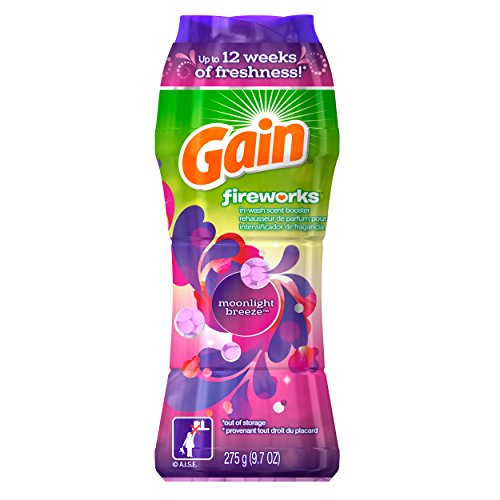 Gain Fireworks In-Wash Scent Booster Granules, Moonlight Breeze Scent, 275 g (Breeze Booster)