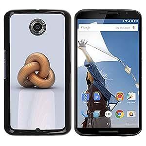 Paccase / SLIM PC / Aliminium Casa Carcasa Funda Case Cover para - Chain Meaning Deep Knot Sailor - Motorola NEXUS 6 / X / Moto X Pro