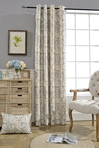 BOKO Blackout Window Curtains Digital Printed Pearl Flannel, Comes with a Pillow Cover in the Same Fabric , Curtains for Bedroom Livingroom, Comes with a Pillow Cover in the Same Fabric (Pretty Blackout Curtains)