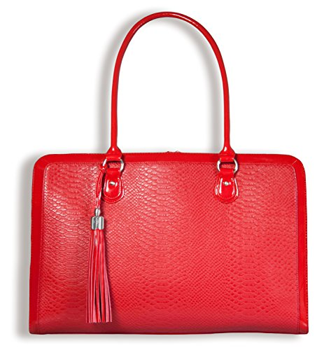 BfB Womens Briefcase for Women – Handmade 17 Laptop Shoulder Bag - (Red Womens Briefcase)