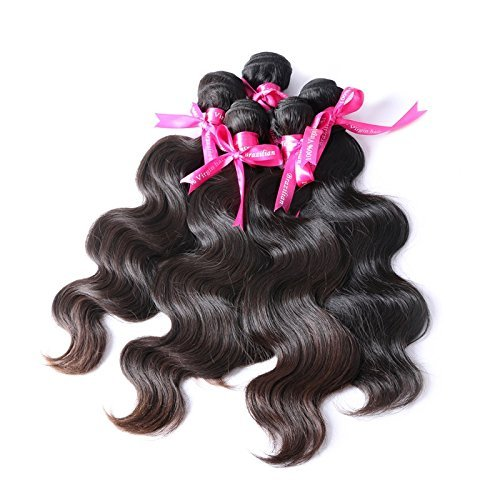 Fleek Virgin Weaves 100% Unprocessed 7A Virgin Human Hair Brazilian Peruvian Malaysian Hair Bundles (22 24 26, Brazilian Bundle Deals) by Fleek Virgin Weaves