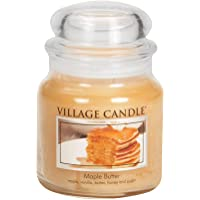 Village Candle Maple Butter 16 oz Glass Jar Scented Candle, Medium,