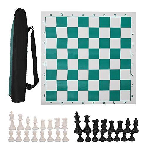【Especial de Año Nuevo 2021】Huairdum Ajedrez Internacional portátil, Juego de Tablero de ajedrez Juego de ajedrez de…