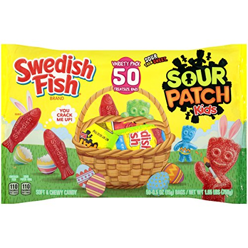 Sour Patch Kids and Swedish Fish Easter Candy Variety Pack, 1.65 lb