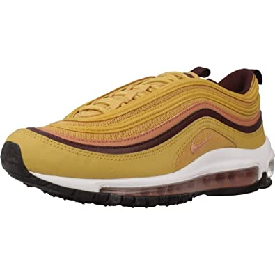 reputable site 6a2f3 9053a Image Unavailable. Nike Women s WMNS Air Max 97, Wheat Gold Terra Blush-Burgundy  ...