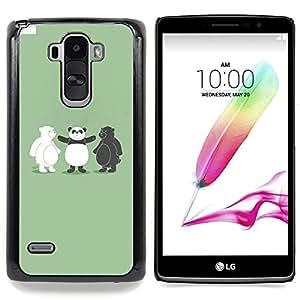 - Funny Black & White Bear Panda/ Hard Snap On Cell Phone Case Cover - Cao - For LG G Stylo / LG LS770 / LG G4 Stylus