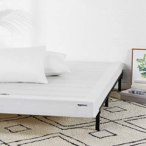 (AmazonBasics Mattress Foundation / Smart Box Spring for Twin Size Bed, Tool-Free Easy Assembly - 5-Inch, Twin)