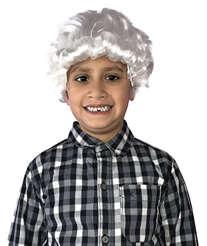 Kinrex George Washington Wig   Colonial Wig   Historical Wig   White