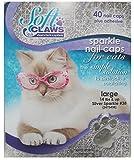 Feline Soft Claw Nail Caps L Slv Sprk