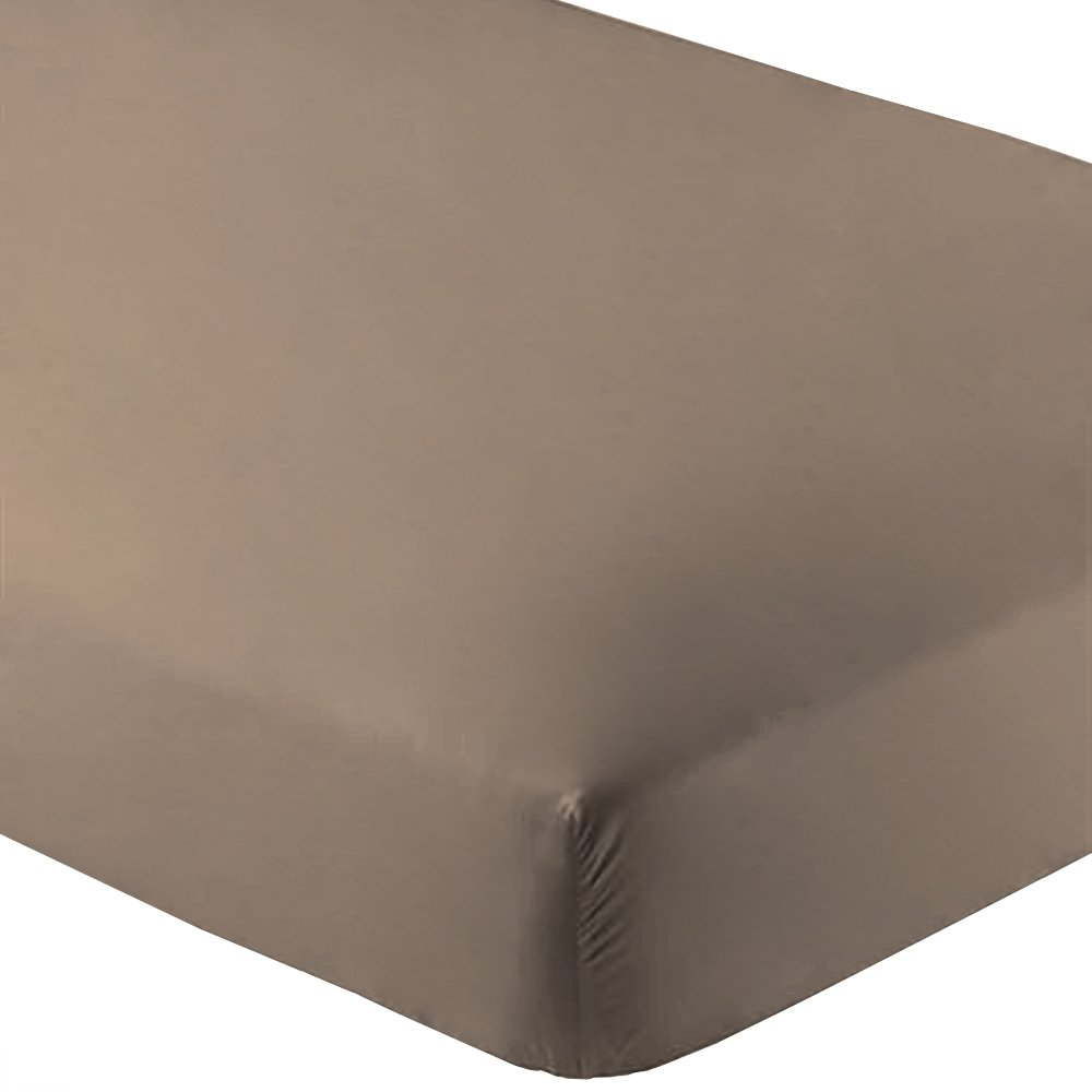 Bare Home Fitted Bottom Sheet Premium 1800 Ultra-Soft Wrinkle Resistant Microfiber, Hypoallergenic, Deep Pocket (King, Taupe)