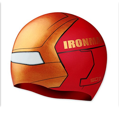 koreatrends Ironman Swimming Silicone Swim Head Cap [Made In - Cap Swim Ironman